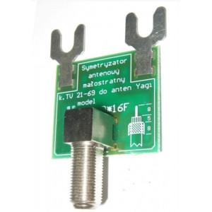 Symetrizační člen s F konektorem 300 / 75 Ohm