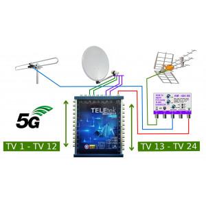 Anténní komplet DVB-T2 pro STA pro 24 účastníků
