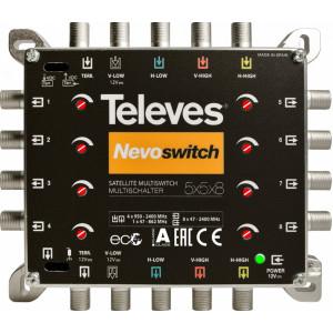 Multiswitch Televes TE-508 pro 8 TV s regulací úrovně