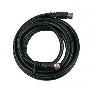 10 metrů venkovního koaxiálního kabelu 5 mm s F konektory