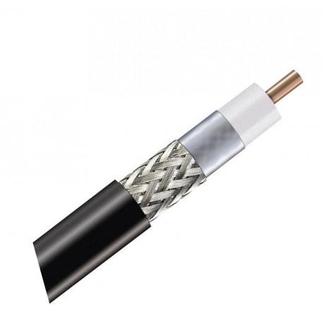 Venkovní koaxiál RG6 černý 6,5 mm