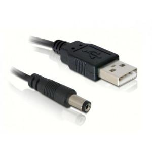 Napájecí kabel USB - DC samec 5,5 / 2,1mm
