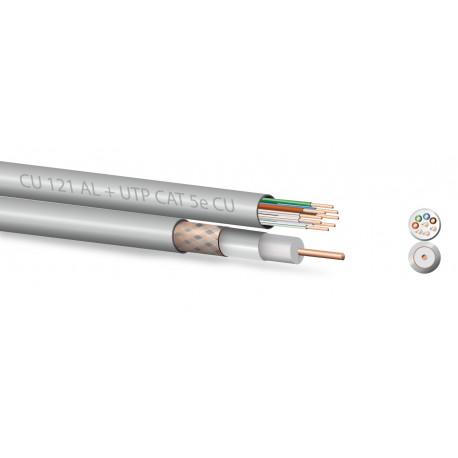 Kombi instalační kabel Zircon UTP + koaxiál 5 mm