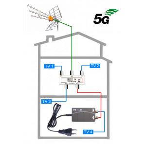5G READY anténní komplet Televes KOM-TE-101-4