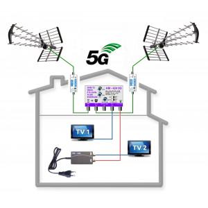 5G READY anténní komplet TESLA KOM-424-101-2